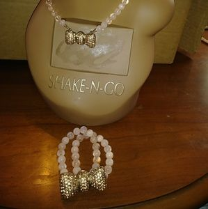 Beadazzle27 Pretty Vintage Pink Necklace/Bracele